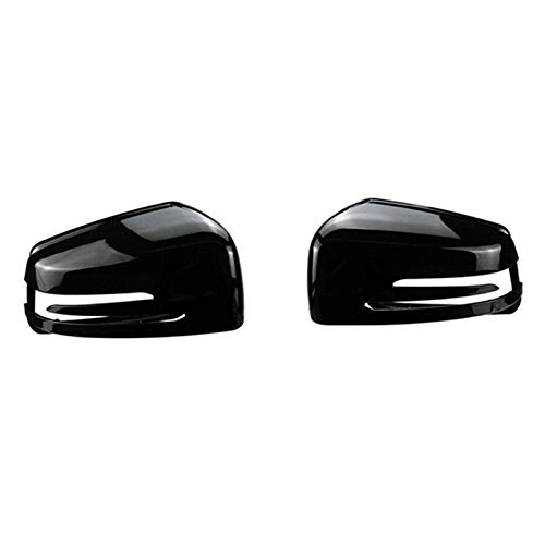 SHOUNAO 2X Coche Derecho/Izquierda Espejo Retrovisor Caja De La Caja De La Caja De La Caja Adecuada para Mercedes-Benz Clase C W176 W246 W204 W212 W221 CLS X156 (Color : Black)
