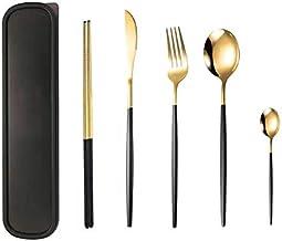 Dinnerware Set 304 Stainless Steel Flatware Set Western Tableware Steak Knife Fork Spoon Coffee Spoon chopstick set,Kitche...