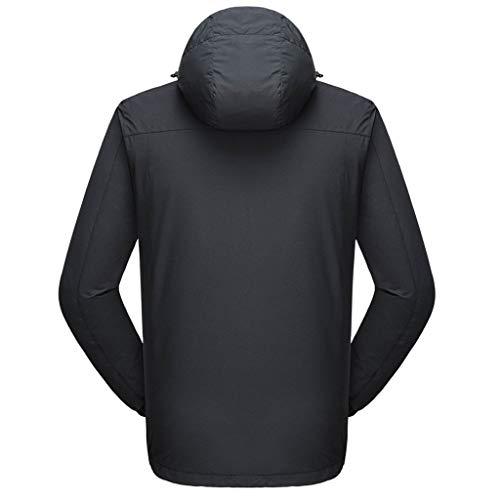 ღJiaMeng Herren Im Freien Sport Sweatshirt Winddicht Wasserdicht Daunenjacke Herbst und Winter Abnehmbare Mantel Freizeit Langarm Jacke
