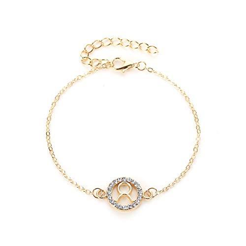 Lfny-bag Zodiac Armband für Männer Frauen Armband, Steinbock Widder Stier Krebs Schütze Paar Armband Diamantarmband,Taurus