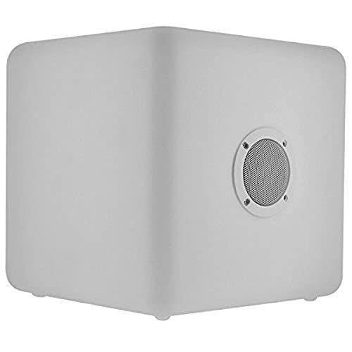 BigBen CBLIGHTSPKL - Altavoz exterior con Bluetooth, luminoso, tamaño grande, color blanco
