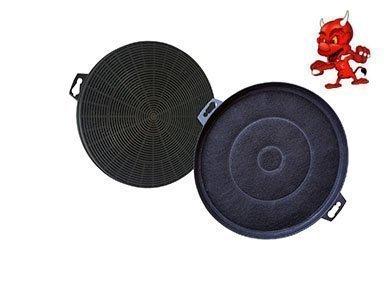 Sparset 2 Filtres À Charbon Actif Filtre Filtre charbon pour hotte Hotte d'aspiration Bosch DHZ5140 , DHZ5145 , DKE632A01