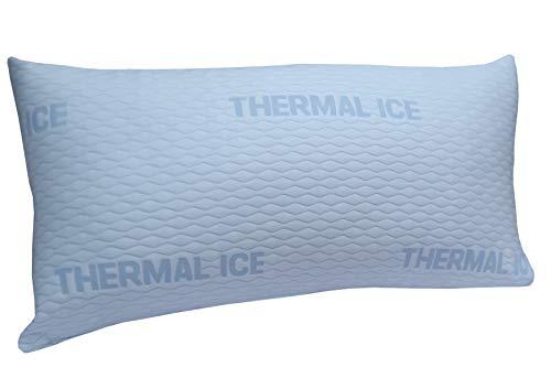 DHestia - Almohada Anticalor Refrescante Cara Verano y Cara Invierno de Fibra. FibraCool (Pack 2 uds 70 cm)