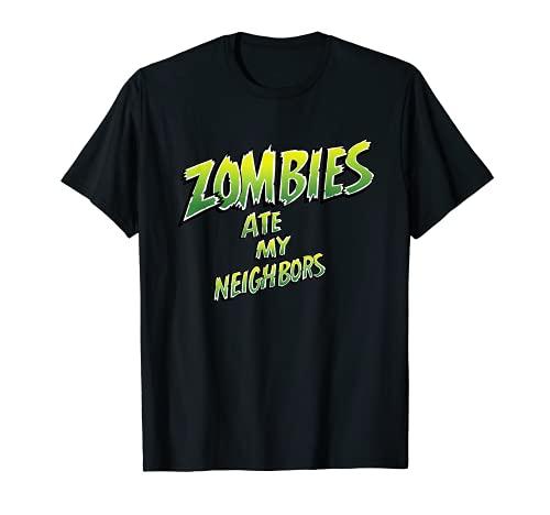Star Wars Zombies comió a mi vecino los años 90 Retro Camiseta