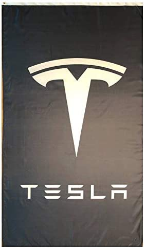 Tesla Motors 3x5 ft Flag Banner Wall White Black Sign or Limited price sale Red Bl Max 45% OFF