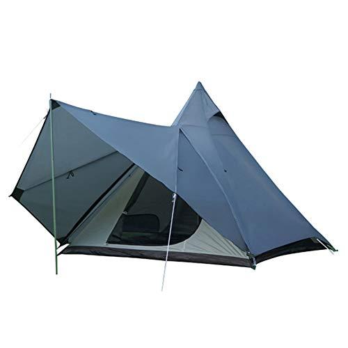 Camping Tipi Zelt Mit Sichtfenster 4 Jahreszeiten Doppelschichtig Wasserdicht Uv Winddicht Zelte Für Outdoor Camping Wandern Jagd Kann 3-4 Personen Unterbringen