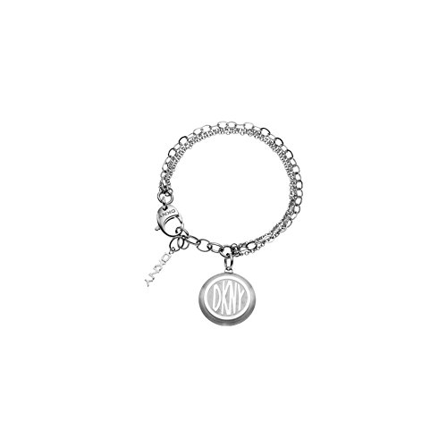 DKNY–nj1412040–Donna Karan Damen-Armband Stahl–Doppel Kette–Charm–Logo