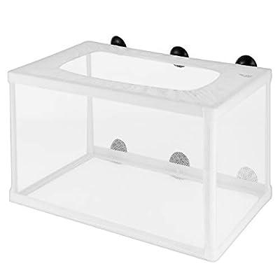 POPETPOP Fish Tank Breeder net - großes Brutkasten-Zuchtnetz für Fische - Brutkasten-Brutkastengeflecht mit Saugnapf für Aquarium