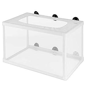 POPETPOP Fish Nursery for Aquarium-Fish Breeding Net Hang on Breeder Box,Fish Breeder Box for Hatchery-Large Size