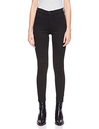Wrangler Damen Skinny Jeans HIGH RISE SKINNY, Schwarz (Rinsewash 023), W34/L32