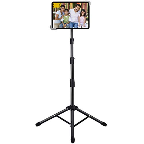 Ipad Tripod Stand, Weiyudang Height Adjustable 20 to 60 Inch Tablet Tripod Mount For Ipad Pro 12.9'/11', Ipad Air 10.5', Ipad 9.7'' and More 9.5' to 14.5' Tablets with Bluetooth Remote Control As Gift