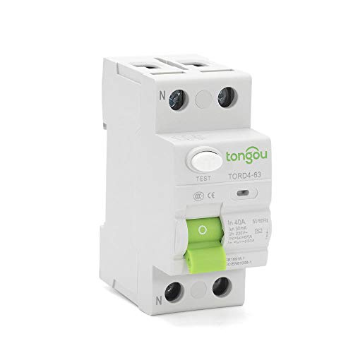 2P 16A 63A 10mA 30mA 100mA 6KA RCCB RCD 230V Electromechanic Residual Current Circuit Breaker Differential Breaker Safety Switch-2_Pole_300mA_25A