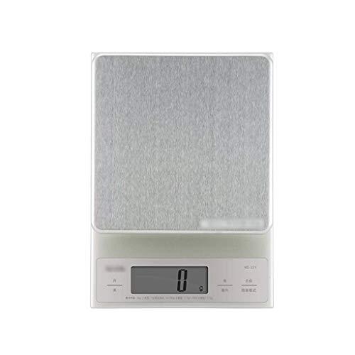 Panduo Báscula electrónica de alimentos báscula de cocina para el hogar báscula electrónica báscula de cocina de alimentos, acero inoxidable, superficie impermeable
