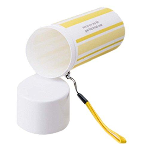 tubes de brosse à dents brosse à dents portable kit rayure Coupes, jaune