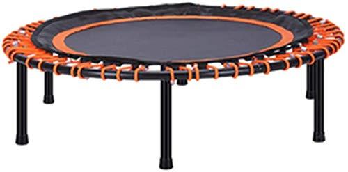 MUZIDP Fitness en Interiores Trampolín Mini Trampolín, Redondo Redondo 40 Pulgadas Ejercicio Trampolín Salta Mat Trampoline para niños Adultos (Color : Orange, Size : 101x26cm/40x10inch)