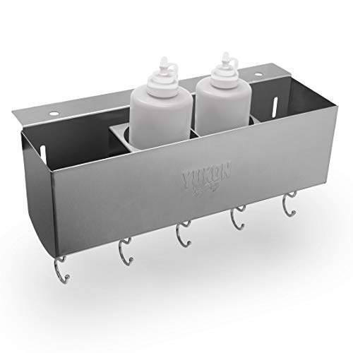 Yukon Glory Stainless Steel Griddle and BBQ Caddy Designed for The 28/36' Blackstone Griddles, for Clean and Organized Workspace and Storage (Squeeze Bottles Not Included)-Not for Pro-Series/Tabletop