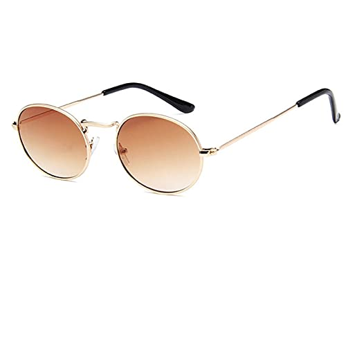 Oval Sunglasses Women Classic Alloy Glasses Shopping Mirror Vintage Sun Glasses(Exquisite packaging box)