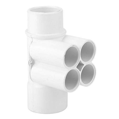 Fdit sanitairverdeler, waterafscheider, 1,5 inch, 3/4 inch, 4-poorts PVC-zwembad, sanitairverdeler, waterafscheider, spa-accessoires, onderdelen voor thuis