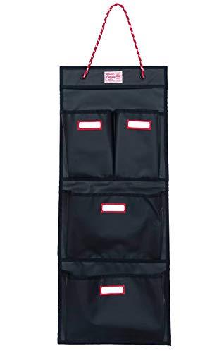 Preisvergleich Produktbild Rough Enough Haltbare 4 Taschen Tür an der Wand hängt an der Wand montierter Schullocker Veranstalter Closet Locker Cabinet Storage Bag Holder mit Adjustable String für Zubehör Dokumente