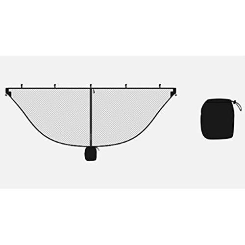 Lichtgewicht hangmat Klamboe Past op alle hangmatten Outdoor Double Single Hangmatten Outfitters Compact Mesh Insect, zwart