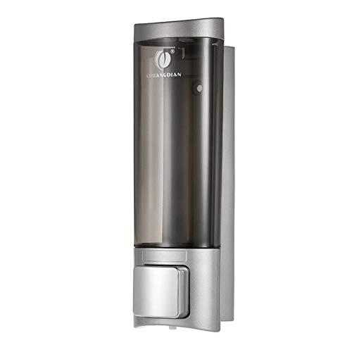 Handmatige zeepdispenser Wandgemonteerde schotel Vloeibare shampoo Douchedispenser Pomp Handgel Dispenser Flessenschuim voor badkamer Keuken, 1 flesjeZilver