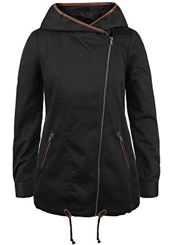 VERO MODA Pola Damen Übergangsmantel Parka Lange Jacke Mit Kapuze, Größe:XS, Farbe:Black