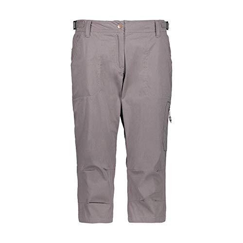 CMP Pantalon Fonctionnel Pantalons de Randonnée Femme Capri Marron Imperméable Respirant - P621 Tortora, 38