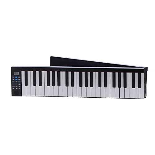 Teclado de Piano Plegable, órgano Electrónico Inteligente Digital Bluetooth Multifuncional de 88 Teclas con Altavoz y Funda para Piano