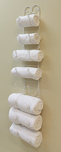 it's useful. Wall Mounted Towel and Wine Bottle Rack Holder, Holds 5 or 8 Bottles