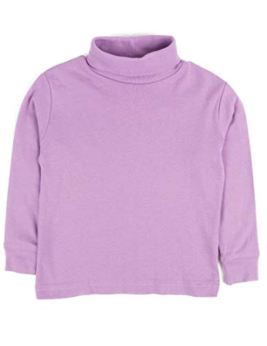 Leveret Solid Turtleneck 100% Cotton (3 Toddler, Purple)