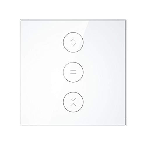 Panel De Vidrio Templado para Interruptor Persiana Wifi (Blanco)