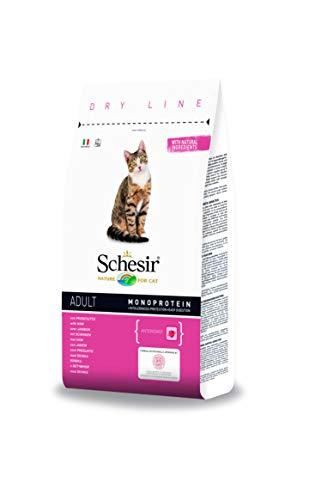 Schesir Cat Adult Maintenance kattenvoering, droog hypoallergeen voor volwassen katten met vlees/vis, verschillende maten (8 x 400 g / 1,5 kg / 10 kg), 8 x 400 g