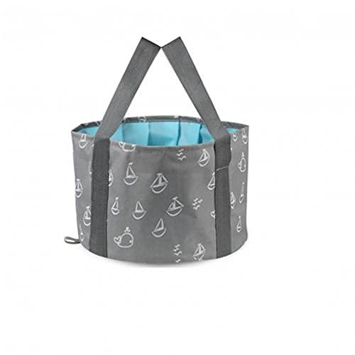 WGDPMGM Cubo de Lavabo Plegable Cubo de Almacenamiento de Agua de Lavabo portátil Plegable (Color : Gray, Size : 37cm x 27cm)