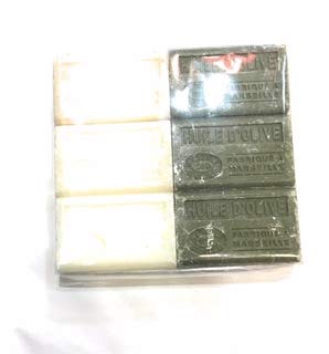 Lot de 6 savons BIO a l'huile d'olive. 6x125g - Parfums 3x Amande douce et 3x Huile d'olive
