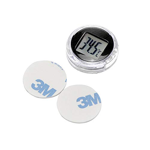 ABEDOE Car Digital Thermometer, Motorrad Auto Celsius Thermometer Mini selbstklebend Thermometer ×2 for Kitchen Fahrrad