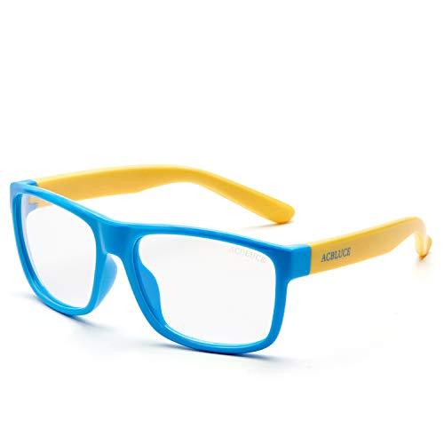 Blue Light Blocking Glasses for Kids Boys Computer Glasses for Children Age 5-13