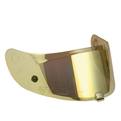 HJC HJ-20P Visier/Motorradhelm-Zubehör, für Pinlock-Verschlüsse geeignet, für R-PHA 10Plus-Helme, hergestellt in Korea, goldfarben