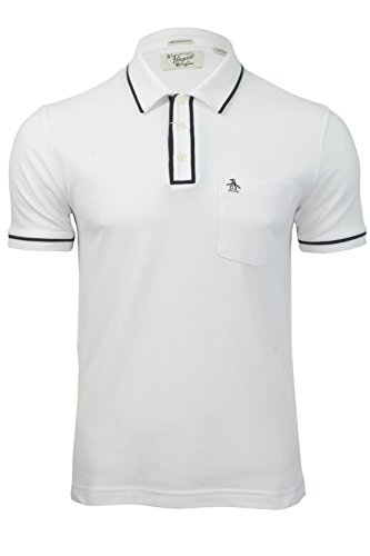 Original Penguin - The Earl Polo - T-shirt Homme, Blanc - Blanc, Small