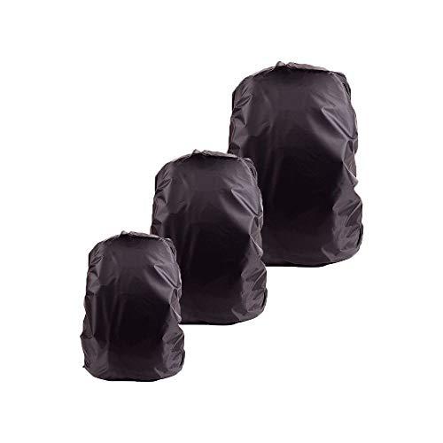 Tong Yue - Ensemble de 3 housses imperméables et noires pour sac à dos, en 3 dimensions différentes, 45-55 l, 60-70 l, 80 l, pour la randonnée, le camping, l'escalade, le cyclisme