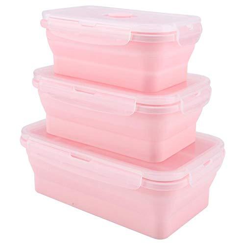 Socobeta Caja de aperitivos, alta temperatura Bento lonchera para niños adultos para la escuela, oficina, picnic, viajes al aire libre (rosa)