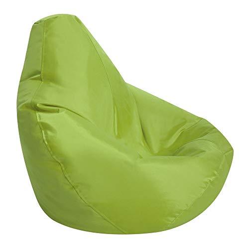 Bean Bag Bazaar Außensitzsack mit Hohem Rückenteil,85cm x 75cm, Gartensitzsack Wasserabweisend, Gaming Sitzsack ohne Füllung Sitzkissen (Grün, Einheitsgröße)