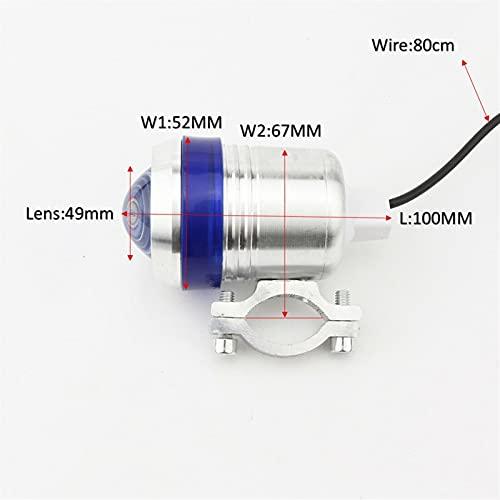 Lámparas locomotoras U3 12V 125W Láminas LED de Motocicletas Láminas de Cabeza a Prueba de Agua Luces de Cabeza de Moto Foco Luces Faro de Motorbike Adecuado para la mayoría de Las mot