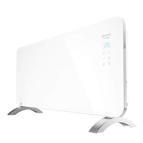 Cecotec Radiador Eléctrico Bajo Consumo Ready Warm 6750 Crystal Connection Con Wifi, 2000 W, Termostato Regulable, 2 Modos, Temporizador, Soporte de pie, Protección sobrecalentamiento, Silencioso