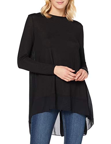 New Look Fringe Sleeve Jumper Maglione, Nero, M Donna