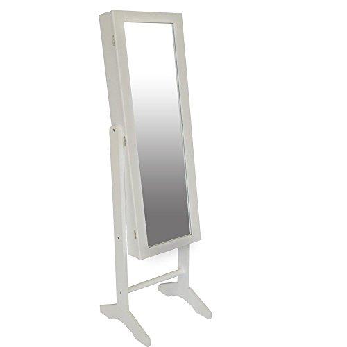 Style home sieradenkast spiegelkast sieradenkast sieradenkast staande spiegel hout wit SJC156E
