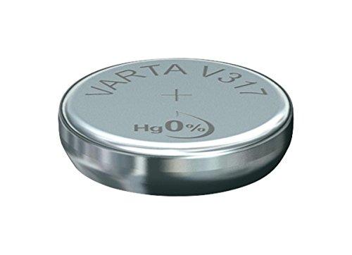 Varta 0317101111 Silber-Oxid Uhrenzelle, V317 (SR62), 1,55 Volt, 8 mAh