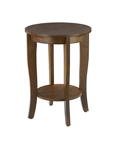 Convenience Concepts American Heritage Round End Table, Espresso