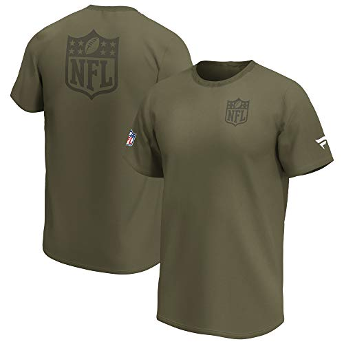 Fanatics Camiseta NFL con escudo de la Liga Nacional de Fútbol League...