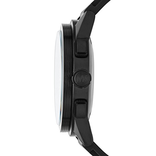 Michael Kors Homme Analogique Quartz Montre avec Bracelet en Silicone MKT4010