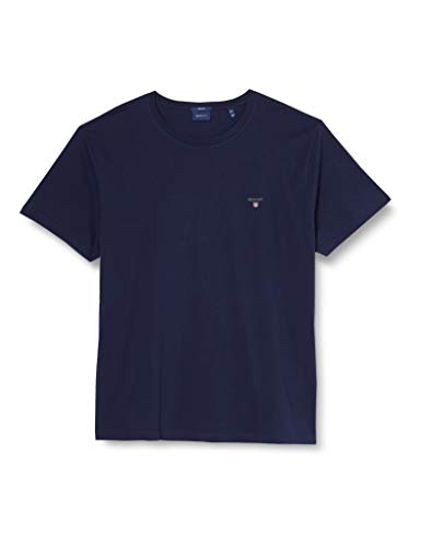 GANT The Original SS T-Shirt, Blu (Evening Blue 433), XXXX-Large Uomo